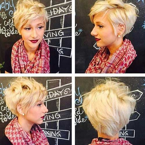 Blonde Stacked Pixie Hairstyles
