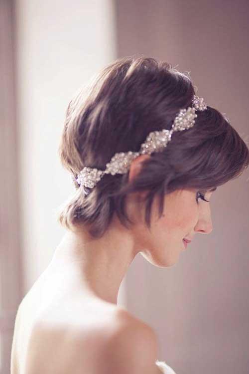 Bridal Brunette Pixie Cuts