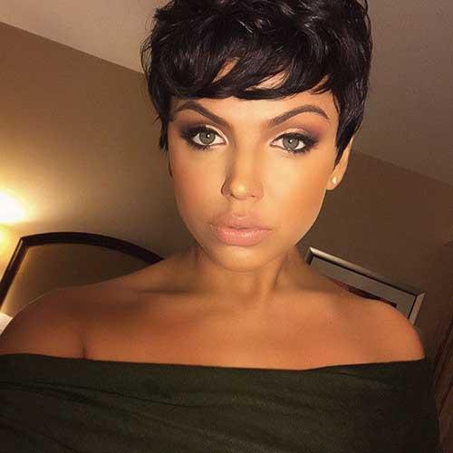Chic Brunette Pixie Cuts