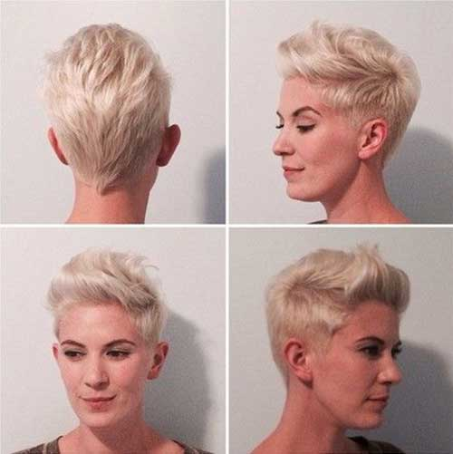 Cool Pink Blonde Pixie Cuts