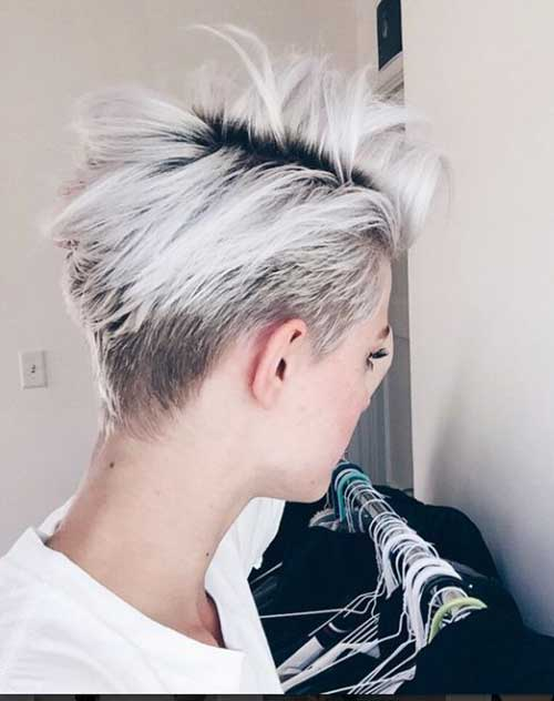 Cool Blonde Pixie Cut