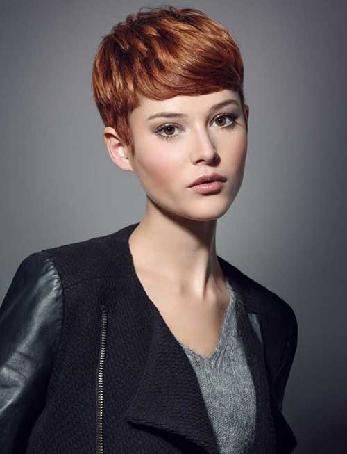 Copper Sassy Pixie Haircuts