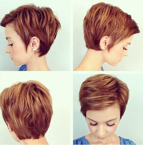 Copper Shaggy Pixie Haircuts