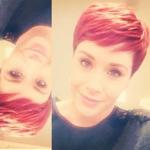 Cute Red Pixie Hair Color