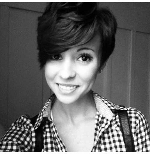 Dark Asymmetrical Pixie Cut Ideas