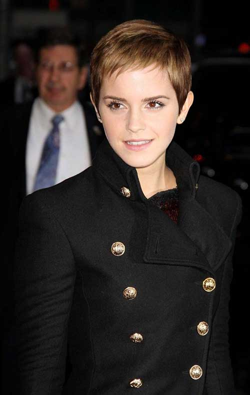 Emma Watson Short Straight Pixie Cuts