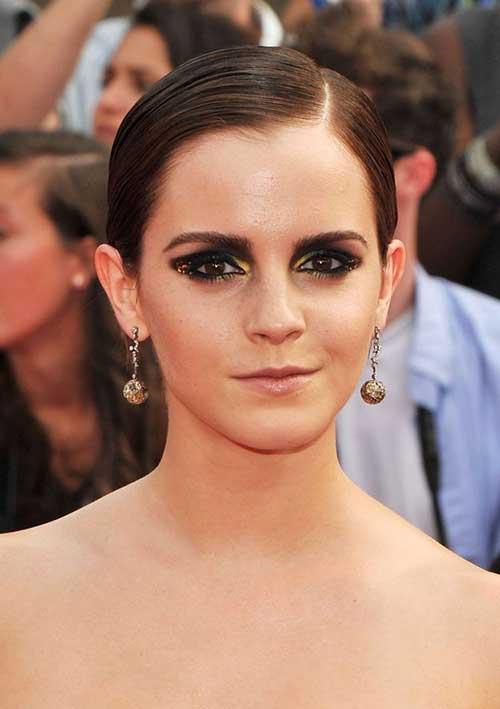 Emma Watson Slicked Pixie Hair