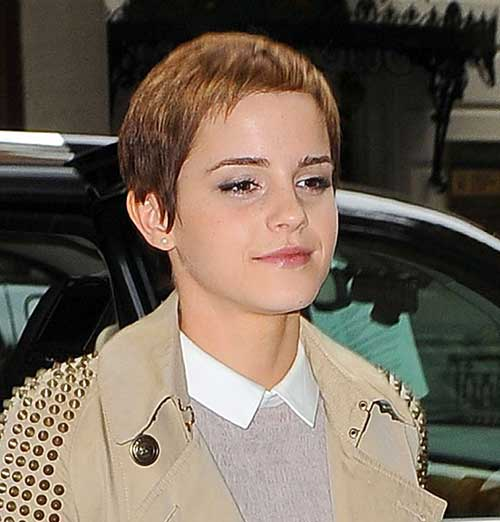 Emma Watson Style Pixie Cuts