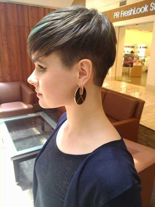 Fine Hair Brunette Pixie Cuts