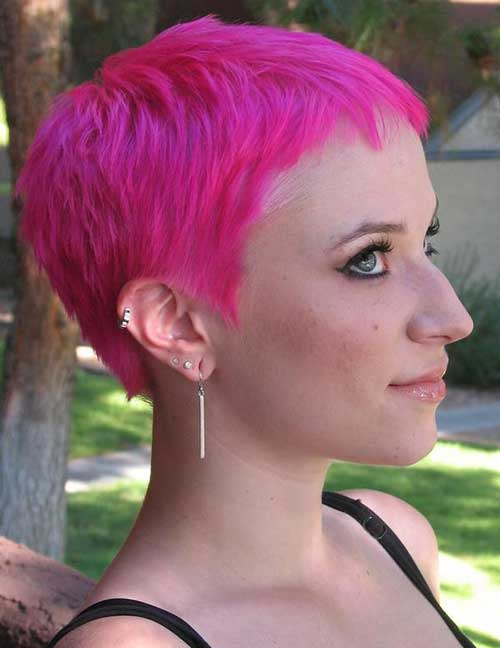 Hot Pink Pixie Hair Idea