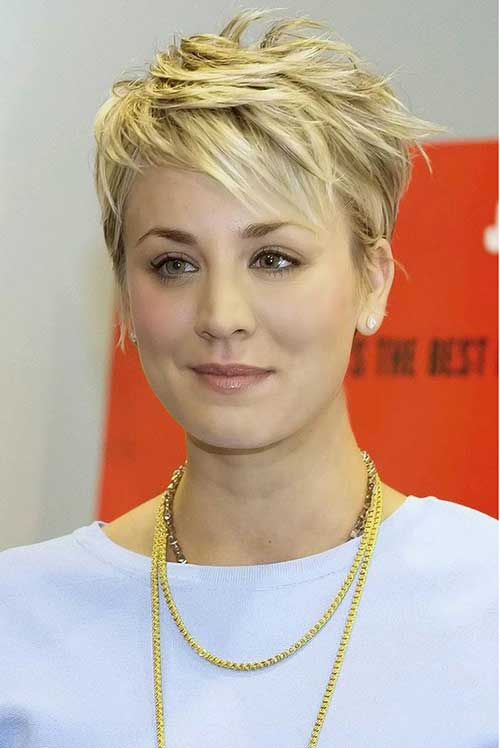 Kaley Cuoco Pixie Hair Cuts