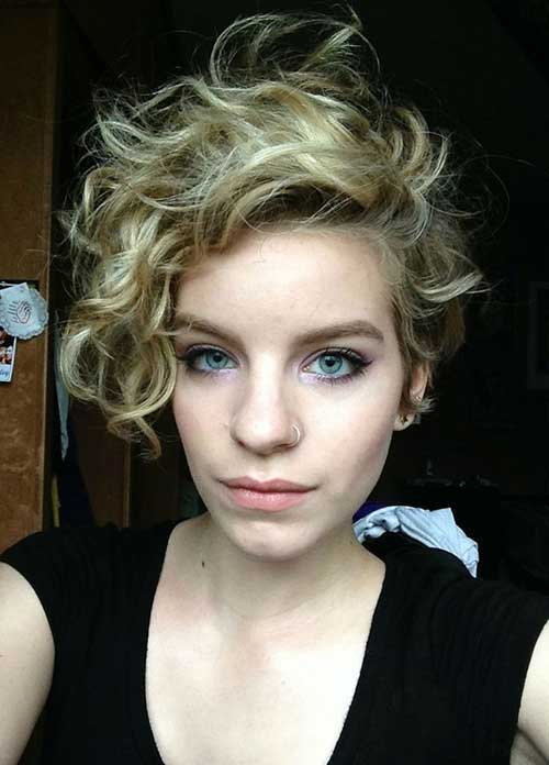 Long Curly Pixie Haircut