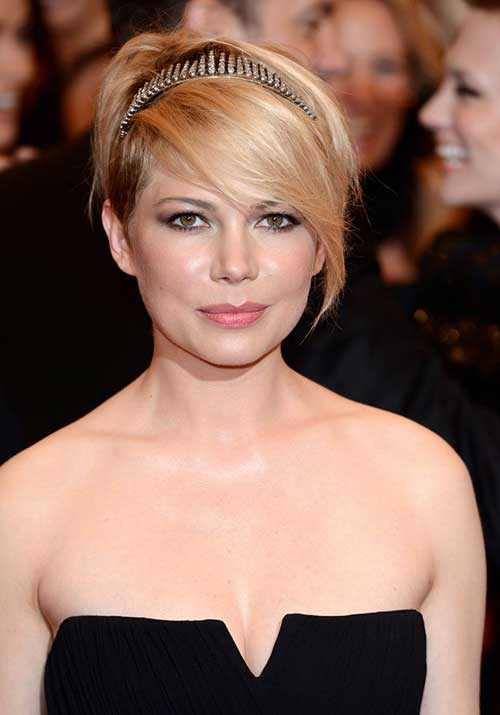 Michelle Williams Asymmetrical Pixie Cut