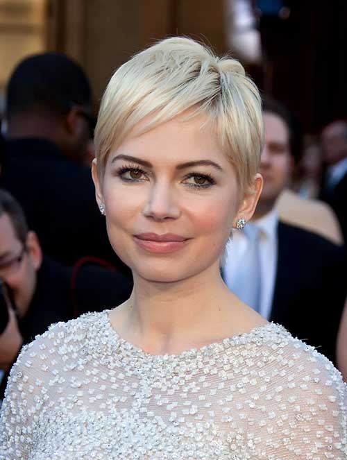 Michelle Williams Blonde Pixie Cut