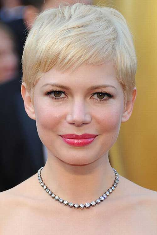 Michelle Williams Cute Pixie Cut Pictures