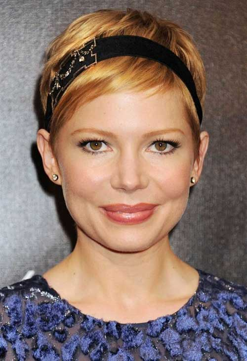 Michelle Williams Headbanded Pixie Cut