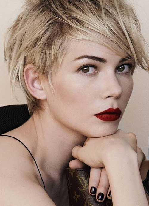 Michelle Williams Long Pixie Cut Ideas