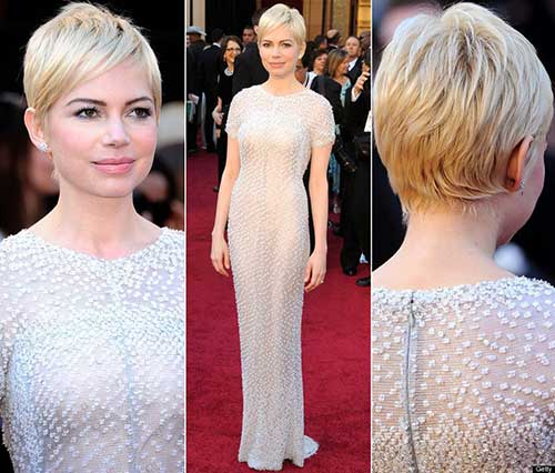 Michelle Williams Pixie Cut Back View