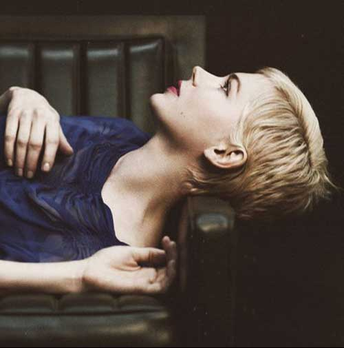 Michelle Williams Pixie Haircut Side