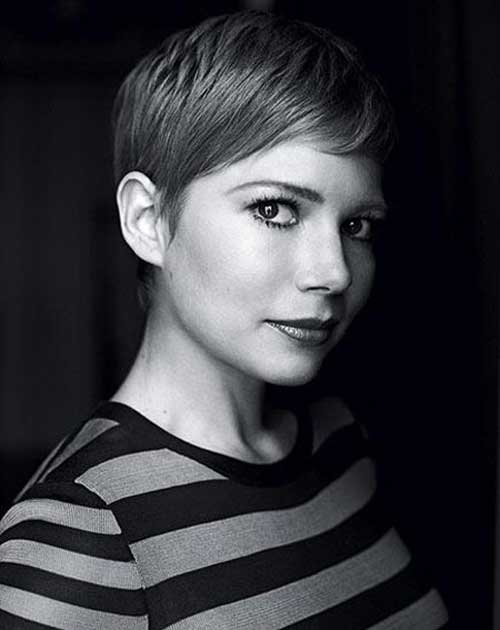 Michelle Williams Simple Pixie Cut