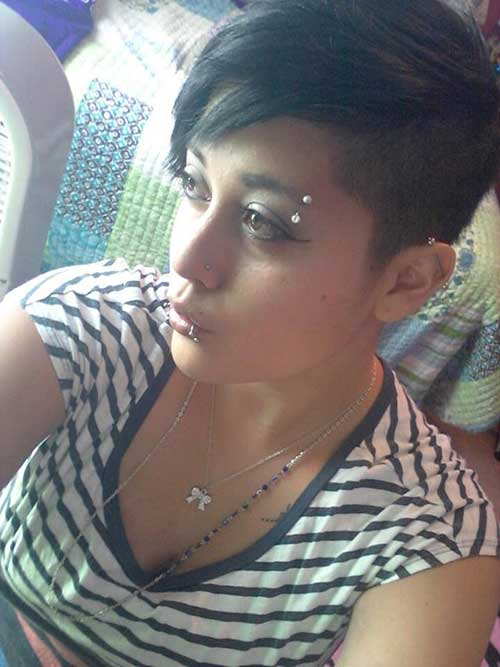 Nice Shaved Pixie Hair