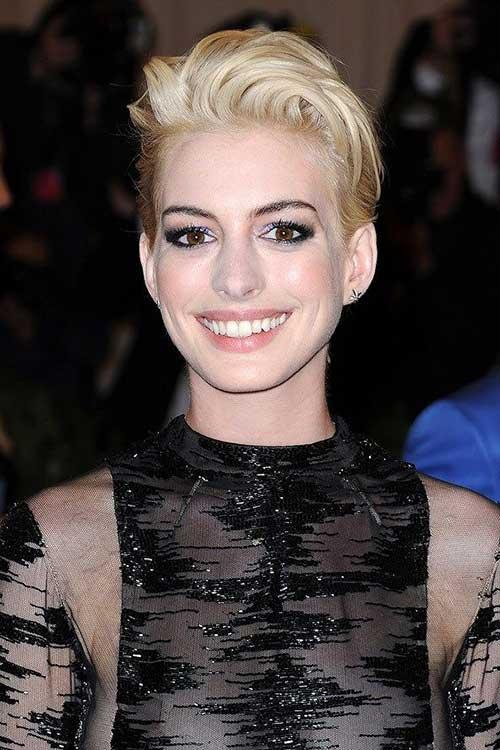 Nice Pixie Cut Anne Hathaway