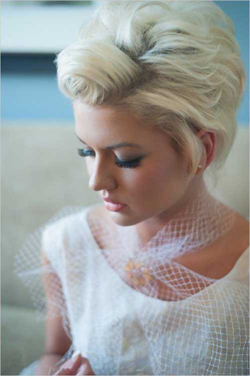 Platinum Blonde Pixie Hair Color