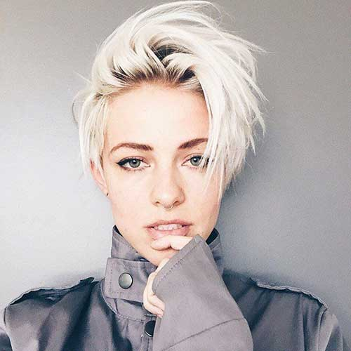Platinum Blonde Pixie Hairstyles