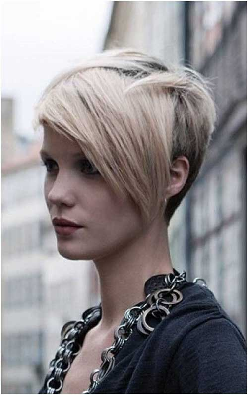Punky Asymmetrical Pixie Haircut
