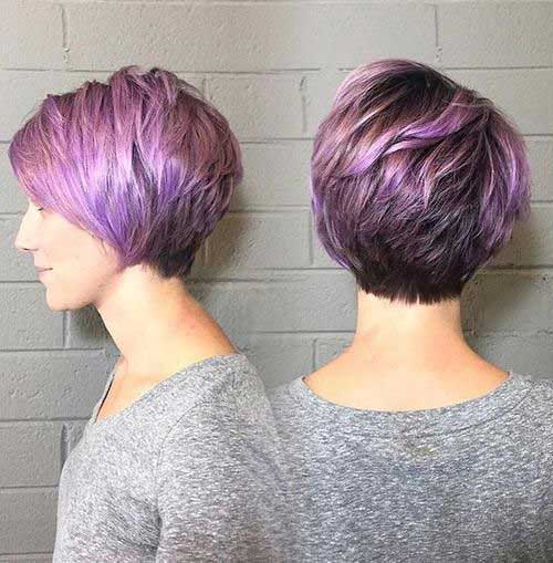 bob red hair style 13 green pixie hair idea 14 blue spiky pixie hair ...