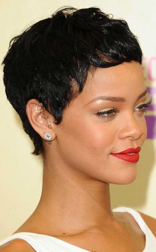 Rihanna Curly Hair Pixie Styles