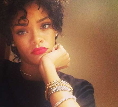Rihanna Natural Pixie Hair Cut