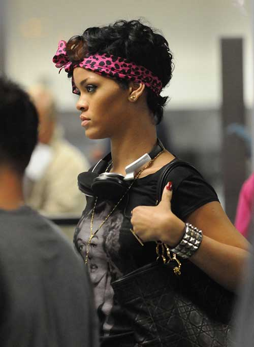 Rihanna Nice Pixie Cut Hairstyles