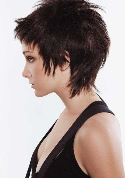Shaggy Dark Pixie Haircuts