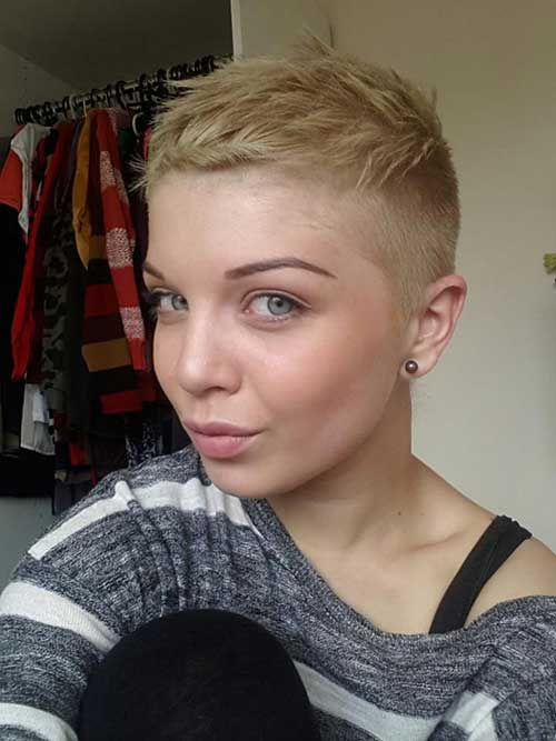 Shaved Boyish Pixie Cuts