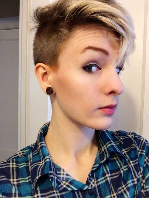 Shaved Highlighted Pixie Hair