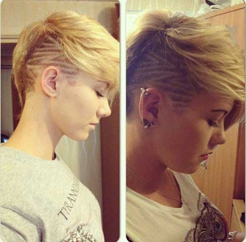 Shaved Long Pixie Haircut