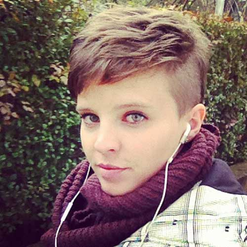 Best Shaved Pixie Cut