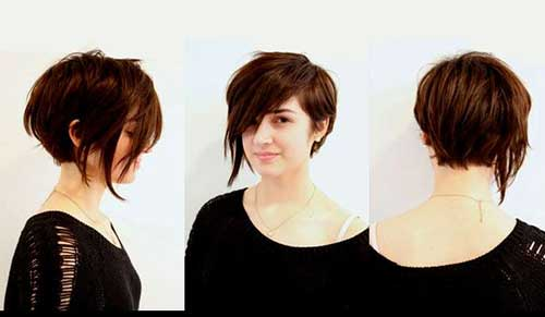 Stylish Asymmetrical Pixie Bob Haircut
