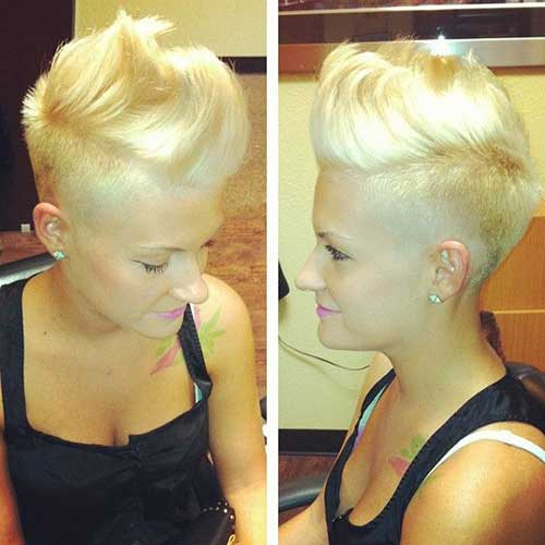 Stylish Shaved Pixie Hair