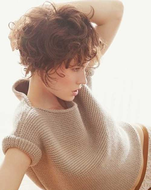 Thick Short Pixie Wavy Hairstyles