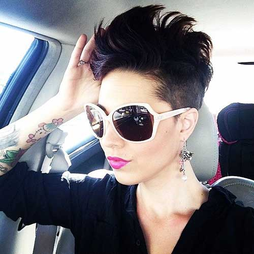 Trendy Shaved Pixie Cuts