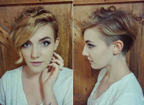 Best Wavy Pixie Cut Long Bangs