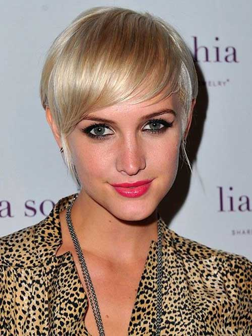 Best Ashlee Simpson Pixie Cut with Bangs