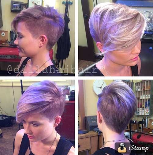 Best Asymmetrical Pixie Cut with Bangs