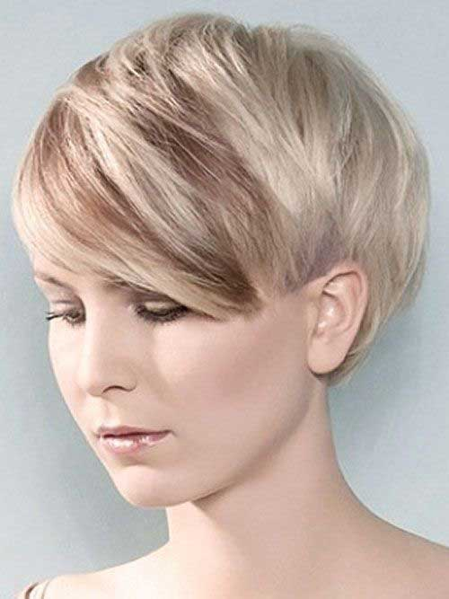 Blonde Longer Pixie Cuts