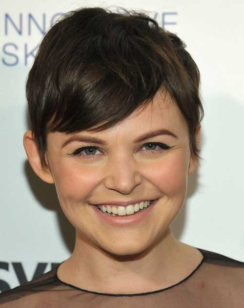Ginnifer Goodwin Dark Brown Pixie Hair
