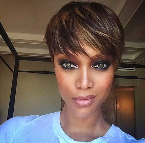 Highlighted Brown Pixie Cut Ideas