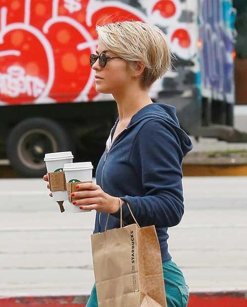 Hough Blonde Pixie Side View