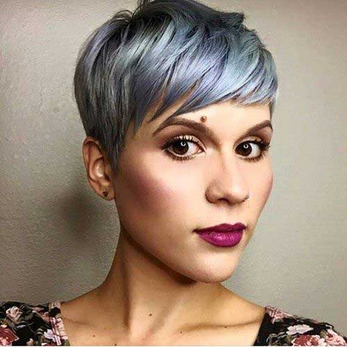 Best Pastel Pixie Haircut with Layered Bangs